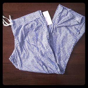 NWT pj pants XXL BLUE & white